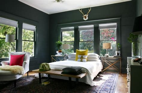 Black Painted Bedroom Walls by Black Walls With Black Trim Door Sixteen