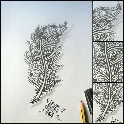 tribal feathers tattoos tribal feather design by blaze drawings and