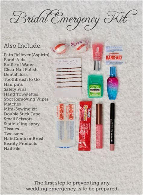 Wedding Emergency Kit by Top 10 Diy Wedding Day Emergency Kits Survival Kits