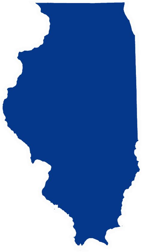 chicago map silhouette illinois state outline clip car interior design