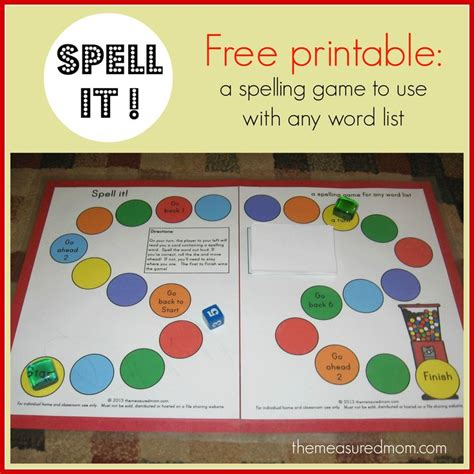 printable games to play with spelling words 17 best images about spelling on pinterest mom tile and