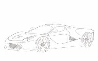 How To Draw A Laferrari Laferrari Sketch By Xrasnovax On Deviantart