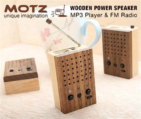motz wooden mini speaker doubled  mp player gadgetsin
