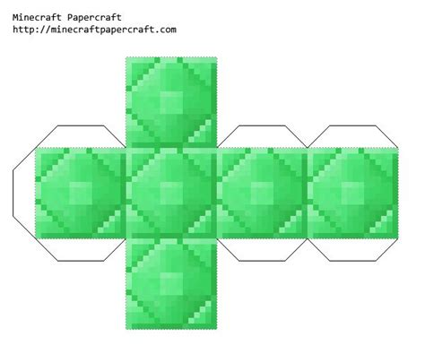 Minecraft Papercraft Items - papercraft a thought a day gem blocks items added from