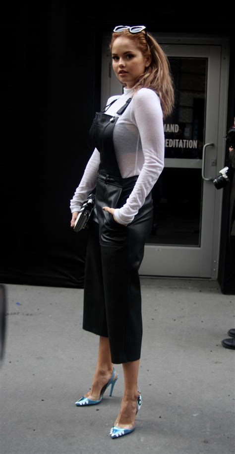 debby leaving a fashion show in nyc 02 12 2016