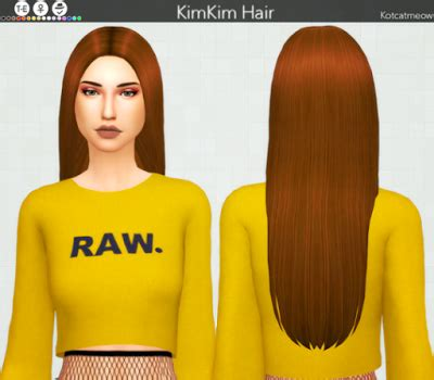 long straight hair maxis match kotkat | sims 4 custom