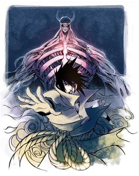 commission sasuke and susanoo by ai eye on deviantart