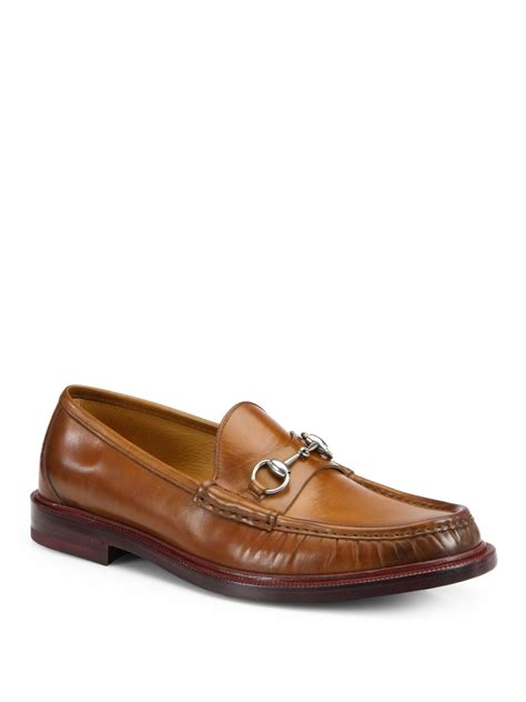 gucci loafers gucci legend loafers in brown for lyst