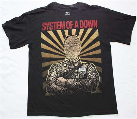 Tshirt System Of A 5 system of a faceless soad serj tankian new black t
