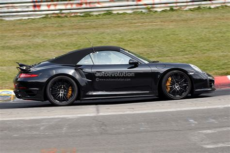 new porsche 911 turbo new spyshots show 2014 porsche 911 turbo s convertible