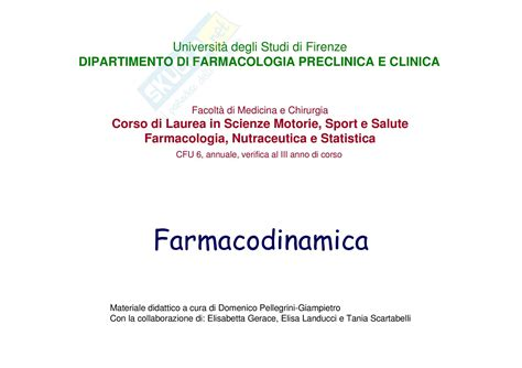 dispense di farmacologia farmacodinamica dispense