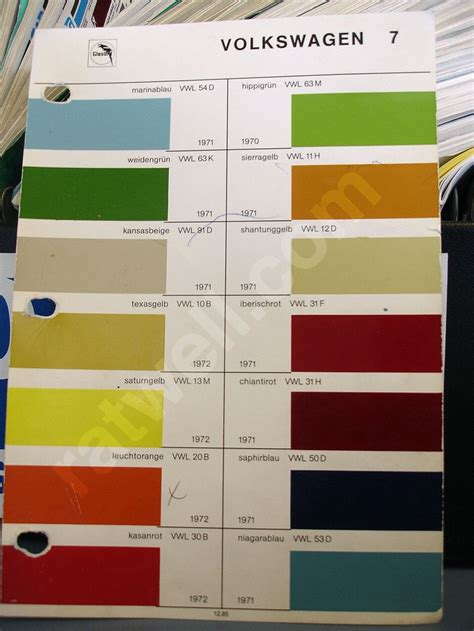 vw paint colors mikey s domain