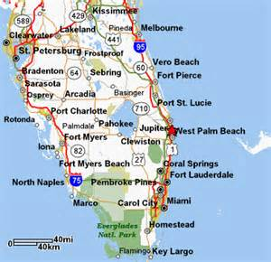 map of south florida and county info
