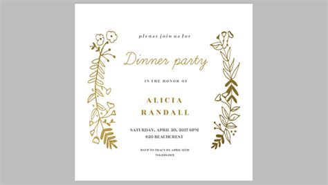 39 printable dinner invitation templates free premium