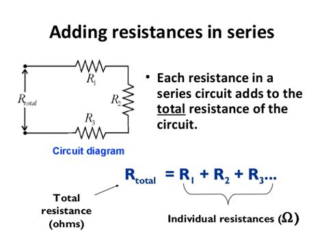 adding resistors in series increases the total resistance electric current and series and parallel circuits