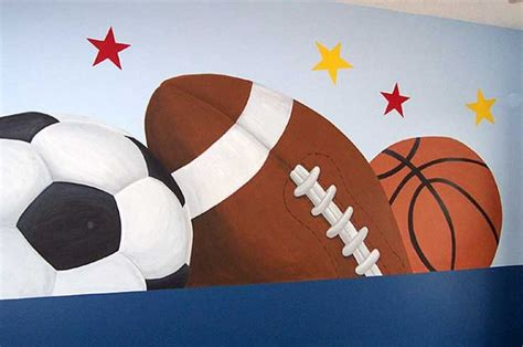sport wall murals children s rooms mural photo album by robin puckett