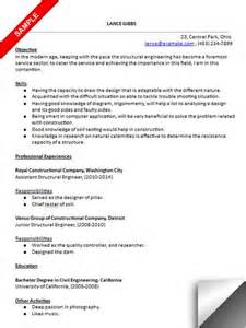Structural Draftsman Sle Resume by Resume And Engineers On