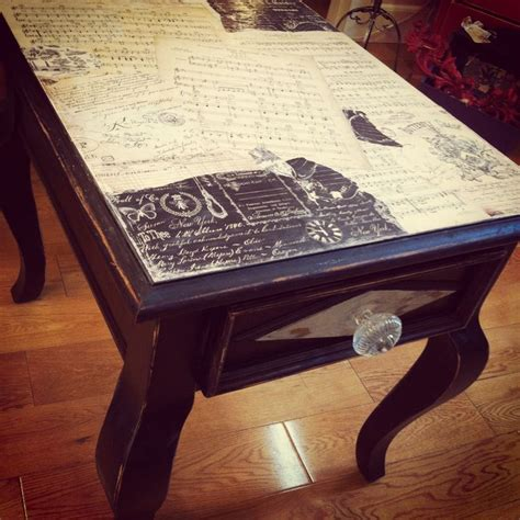 Decoupage Table - 17 best images about artistic furniture on