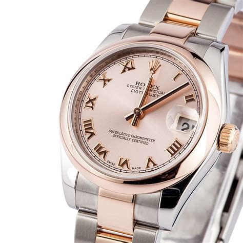 Rolex Datejust Combi Rosegold rolex gold mid size save at bob s watches