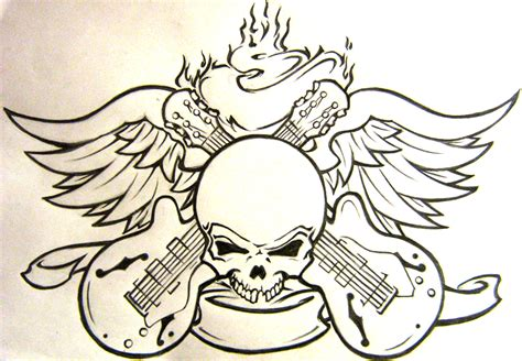rock n roll lips tattoo design
