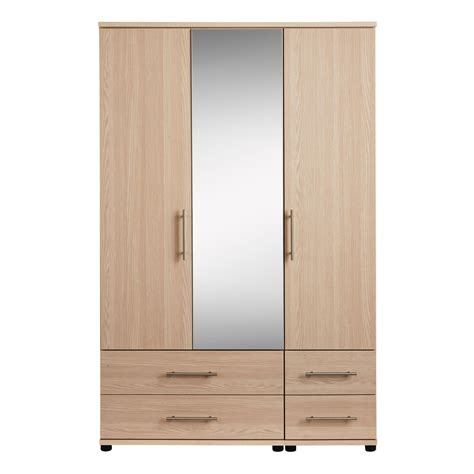 4 Door Wardrobe With Mirror And Drawers by Renee 3 Door 4 Drawer Mirrored Wardrobe Free Delivery