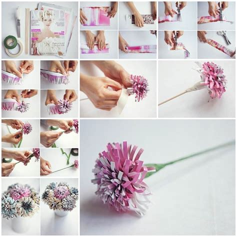 diy beautiful diy beautiful flowers from old magazine