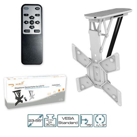 supporto tv soffitto motorizzato tv supporto motorizzato con ir telecomando pieghevole da