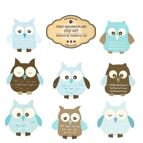 popular items for baby boy clipart on etsy baby shower baby blue owl clip commercial and personal use