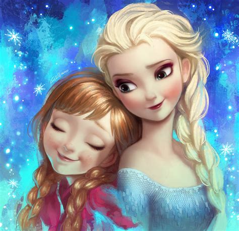 frozen wallpaper elsa and anna sisters forever frozen elsa and anna fan art by angju on deviantart