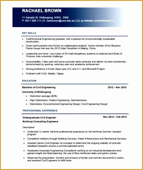 Civil Engineering 6 6 civil engineering cv resume template free sles