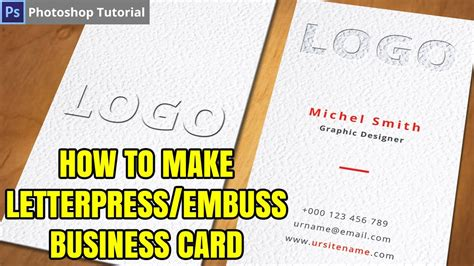 How To Create Letterpress Emboss Text Effect Business Card