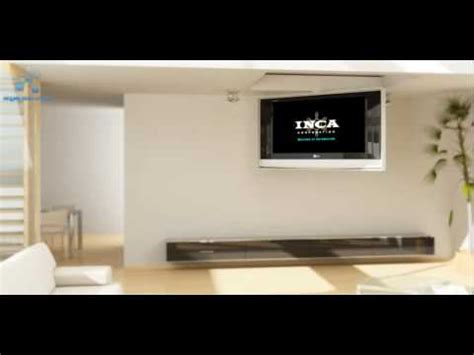 motorized retractable tv ceiling mount motorized fold ceiling mount by inca corporation