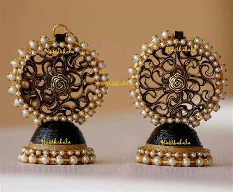 Paper Jhumka - 54 best images about jhumka on metals yellow