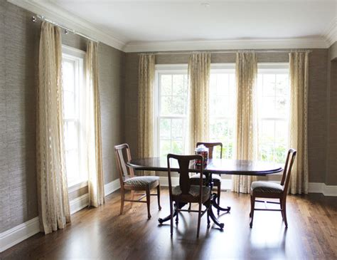 window treatments for dining room custom window treatments by lynn chalk modern dining