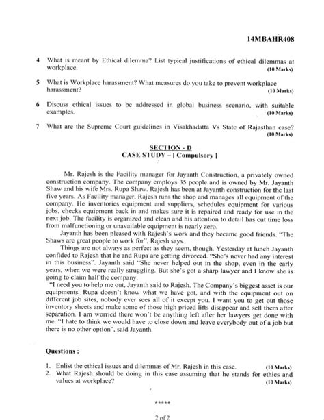 Mba Question Papers 2016 by 4th Semester Mba Jun 2016 Question Papers