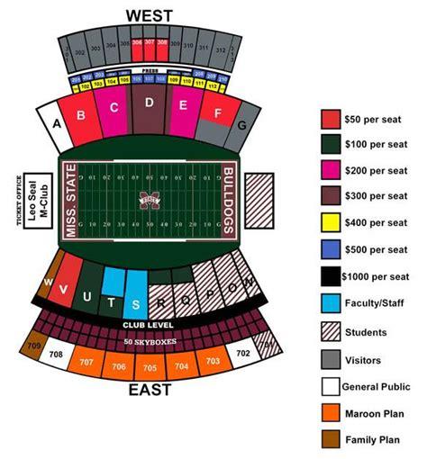 davis wade stadium seating chart davis wade stadium at field seating chart