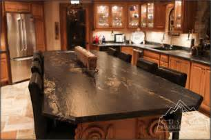 black granite table tuscan kitchen mediterranean