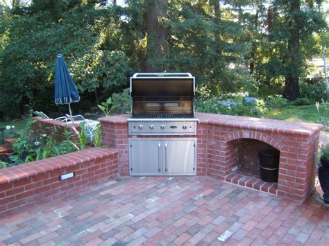 brick outdoor kitchen budget brick oven outdoor kitchen with fireplace 2337