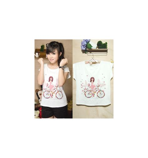 Tshirt Kaos Baju Korean Dramas Putih bicycle t shirt cyonpark