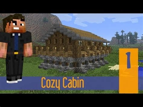 minecraft how to build a rustic log cabin house