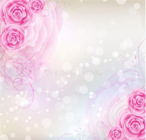 imagenes de rosas vectorizadas fondo rosado de las rosas imagenes de archivo imagen