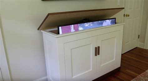 how to build a tv cabinet build a tv lift cabinet free design plans jon peters