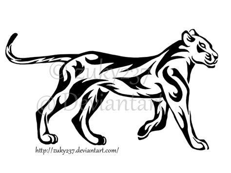 tribal lioness tattoo walking lioness by zuky237 on deviantart