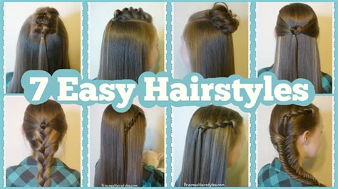 easy and quick hairstyles for school for short hair 7 quick and easy hairstyles for school youtube