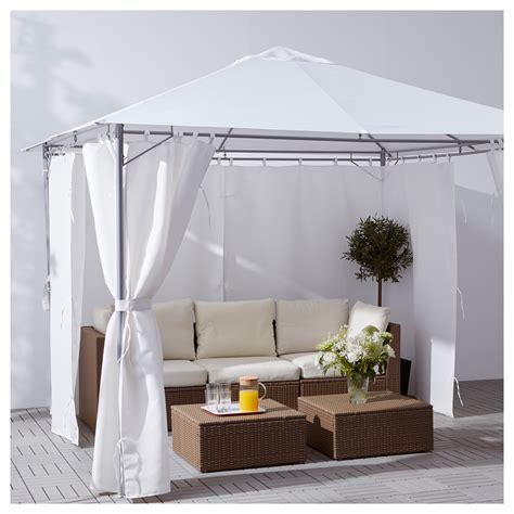 ikea gazebi karls 214 gazebo with curtains white 300x300 cm ikea