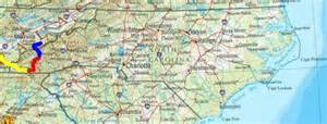 carolina tennessee map map of carolina and tennessee map
