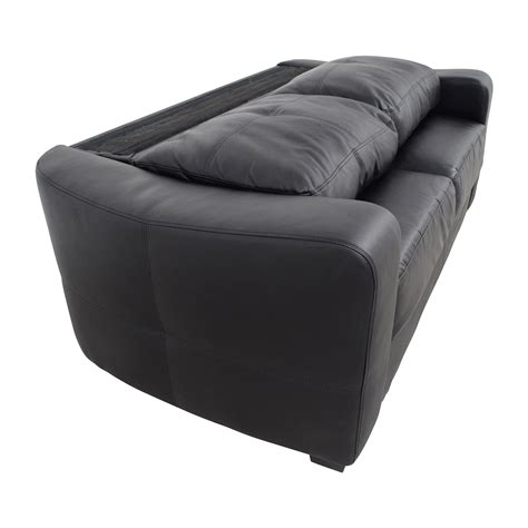 loveseat black leather 79 off black bonded leather loveseat sofas