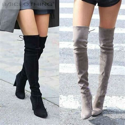 jeffrey cbell thigh high boots faux suede thigh high boots fashion the knee