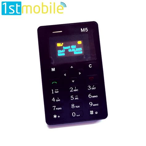 Credit Card Sized by Credit Card Sized Mobile Phone With Fm Radio And