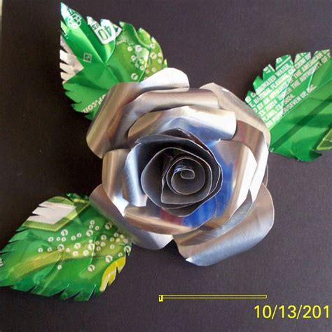 rose can roses made with soda cans soda cans crafts save the